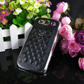 Chanel Hard Cover leather Cases Holster Skin for Samsung Galaxy SIII S3 I9300 - Black