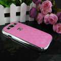 Chanel Hard Cover leather Cases Holster Skin for Samsung Galaxy SIII S3 I9300 - Pink