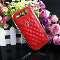 Chanel Hard Cover leather Cases Holster Skin for Samsung Galaxy SIII S3 I9300 - Red