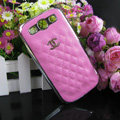 Chanel Hard Cover leather Cases Holster Skin for Samsung Galaxy SIII S3 I9300 - Rose