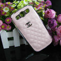 Chanel Hard Cover leather Cases Holster Skin for Samsung Galaxy SIII S3 I9300 - White