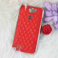 Chanel Hard Cover leather Cases Holster Skin for Samsung N7100 GALAXY Note2 - Red