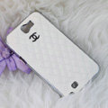 Chanel Hard Cover leather Cases Holster Skin for Samsung N7100 GALAXY Note2 - White