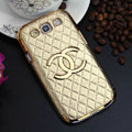 Chanel Hard Cover leather Cases Skin for Samsung Galaxy SIII S3 I9300 - Gold