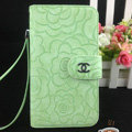 Chanel Rose pattern leather Case folder flip Holster Cover for Samsung Galaxy SIII S3 I9300 - Green