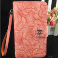 Chanel Rose pattern leather Case folder flip Holster Cover for Samsung Galaxy SIII S3 I9300 - Orange