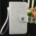 Chanel Rose pattern leather Case folder flip Holster Cover for Samsung Galaxy SIII S3 I9300 - Purple