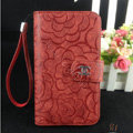 Chanel Rose pattern leather Case folder flip Holster Cover for Samsung Galaxy SIII S3 I9300 - Red