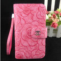 Chanel Rose pattern leather Case folder flip Holster Cover for Samsung Galaxy SIII S3 I9300 - Rose