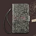 Chanel Rose pattern leather Case folder flip Holster Cover for Samsung N7100 GALAXY Note2 - Gray