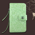Chanel Rose pattern leather Case folder flip Holster Cover for Samsung N7100 GALAXY Note2 - Green