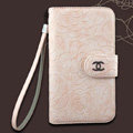 Chanel Rose pattern leather Case folder flip Holster Cover for Samsung N7100 GALAXY Note2 - Pink