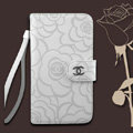 Chanel Rose pattern leather Case folder flip Holster Cover for Samsung N7100 GALAXY Note2 - White