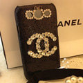 Chanel diamond Crystal Case Bling Cover for Samsung Galaxy SIII S3 I9300 - Black