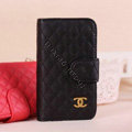 Chanel folder leather Case Book Flip Holster Cover for Samsung Galaxy SIII S3 I9300 - Black