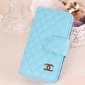 Chanel folder leather Case Book Flip Holster Cover for Samsung Galaxy SIII S3 I9300 - Blue