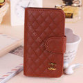 Chanel folder leather Case Book Flip Holster Cover for Samsung Galaxy SIII S3 I9300 - Brown