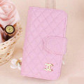 Chanel folder leather Case Book Flip Holster Cover for Samsung Galaxy SIII S3 I9300 - Pink
