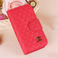 Chanel folder leather Case Book Flip Holster Cover for Samsung Galaxy SIII S3 I9300 - Red