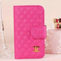 Chanel folder leather Case Book Flip Holster Cover for Samsung Galaxy SIII S3 I9300 - Rose