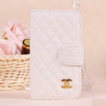 Chanel folder leather Case Book Flip Holster Cover for Samsung Galaxy SIII S3 I9300 - White