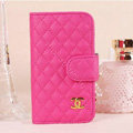 Chanel folder leather Cases Book Flip Holster Cover Skin for iPhone 5 - Rose