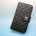 Chanel leather Cases Book Holster Cover Skin for Samsung Galaxy SIII S3 I9300 - Black