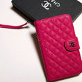 Chanel leather Cases Book Holster Cover Skin for Samsung Galaxy SIII S3 I9300 - Rose
