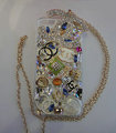 Bling Swarovski crystal cases Chanel diamond cover Skin for iPhone 5C - White