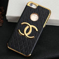 Chanel leather Cases Luxury Hard Back Covers Skin for iPhone 5C - Black
