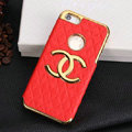 Chanel leather Cases Luxury Hard Back Covers Skin for iPhone 5C - Red