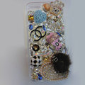 Swarovski crystal cases Bling Chanel Heart diamond cover for iPhone 5C - White