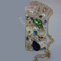 Swarovski crystal cases Bling Chanel diamond covers skin for iPhone 5C - White