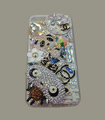 Bling Swarovski crystal cases Chanel Panda diamond cover for iPhone 5S - Brown