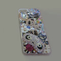 Bling Swarovski crystal cases Chanel Panda diamond cover for iPhone 5S - Rose