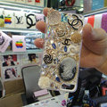 Bling Swarovski crystal cases Chanel diamond cover for iPhone 5S - Gold