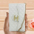 Chanel Handbag leather Cases Wallet Holster Cover for iPhone 5S - White