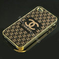Chanel Ultrathin Metal edge Hard Back Cases Covers for iPhone 5S - Black