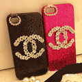Chanel diamond Crystal Case Bling Cover for iPhone 5S - Rose