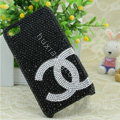 Chanel diamond Crystal Cases Luxury Bling Hard Covers for iPhone 5S - Black