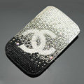 Chanel diamond Crystal Cases Luxury Bling Holster Covers for iPhone 5S - Black