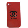 Chanel iPhone 5S case Ultra-thin scrub color cover - red