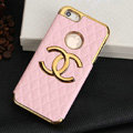 Chanel leather Cases Luxury Hard Back Covers Skin for iPhone 5S - Pink