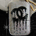 Luxury Bling Holster Covers Chanel diamond Crystal Cases Skin for iPhone 5S - White