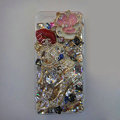 Swarovski crystal cases Bling Chanel Lips diamond cover for iPhone 5S - White