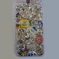Swarovski crystal cases Bling Chanel diamond cover skin for iPhone 5S - White