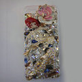 Swarovski crystal cases Chanel Lips Bling diamond cover for iPhone 5S - White