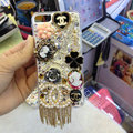Swarovski crystal cases Chanel diamond Bling cover for iPhone 5S - White