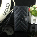 Chanel folder leather Case Book Flip Holster Cover for Samsung GALAXY NoteIII 3 - Black