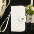 Chanel folder leather Case Book Flip Holster Cover for Samsung GALAXY NoteIII 3 - White